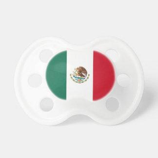 Pacificador con la bandera de México Chupetes De Bebé