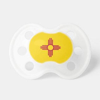 Pacificador con la bandera de New México, los Chupetes Para Bebes