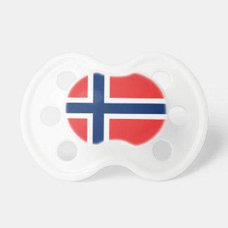 Pacificador con la bandera de Noruega Chupete De Bebé