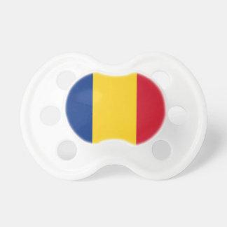 Pacificador con la bandera de Rumania Chupetes De Bebe