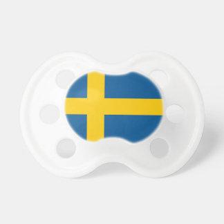 Pacificador con la bandera de Suecia Chupete De Bebe