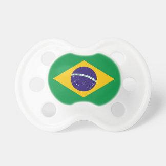 Pacificador con la bandera del Brasil Chupetes Para Bebes