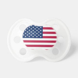 Pacificador con la bandera federal de los E E U U Chupete De Bebe