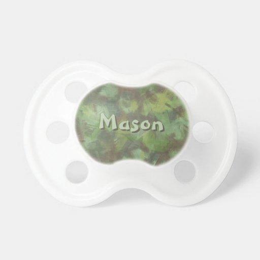 Pacificador conocido de encargo verde de Camoflage Chupetes Para Bebes