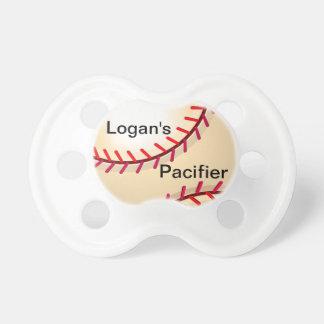 Pacificador conocido personalizado del béisbol chupetes para bebés