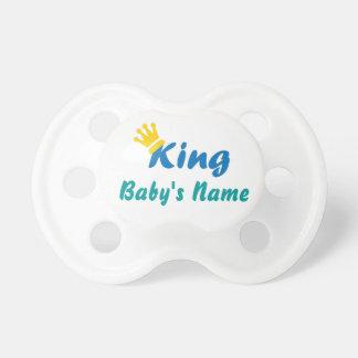Pacificador conocido personalizado del rey bebé chupetes para bebés