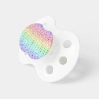 Pacificador - costura del arco iris chupetes de bebé