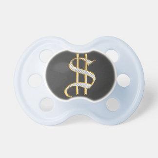 Pacificador de Bling del dinero del efectivo Chupetes
