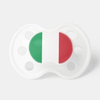Pacificador de Booginhead de la bandera de Italia Chupetes De Bebe