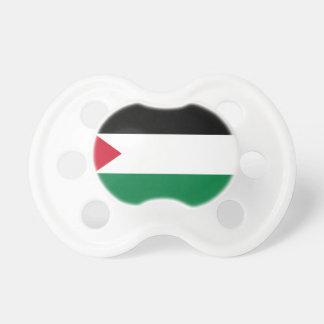 Pacificador de Booginhead de la bandera de Palesti Chupete De Bebé