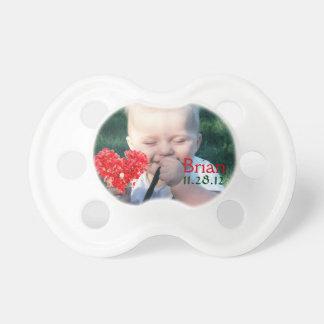 Pacificador de encargo de la foto chupete de bebé