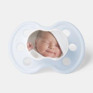 Pacificador de encargo del bebé de la foto chupetes