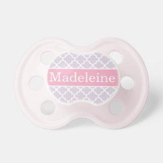 Pacificador de encargo del bebé del nombre el   de chupetes para bebés