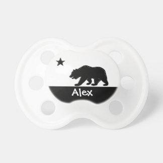 Pacificador de encargo del bebé del oso blanco neg chupetes para bebés