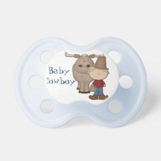 Pacificador de encargo del bebé del vaquero lindo chupetes de bebé
