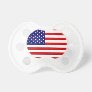 Pacificador de la bandera americana chupete de bebe