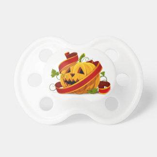 Pacificador de la calabaza de Halloween Chupete