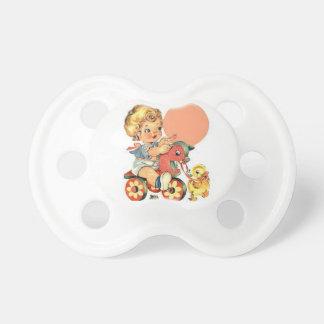 Pacificador de la imagen del vintage chupetes para bebés