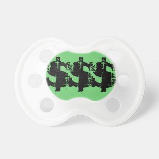 Pacificador de la muestra de dólar chupetes de bebé