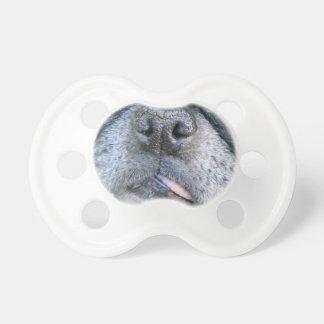 Pacificador de la nariz de barro amasado (barro am chupete de bebé