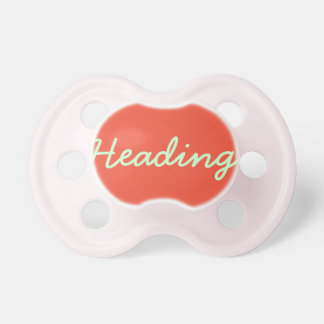 Pacificador de la niña: Caqui Chupetes Para Bebes