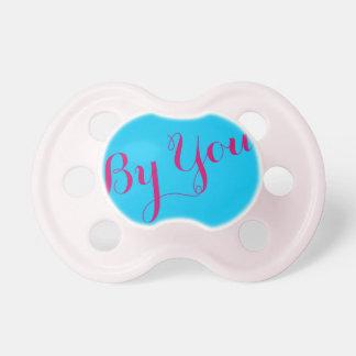 Pacificador de la niña: Color del azul de cielo Chupete De Bebé