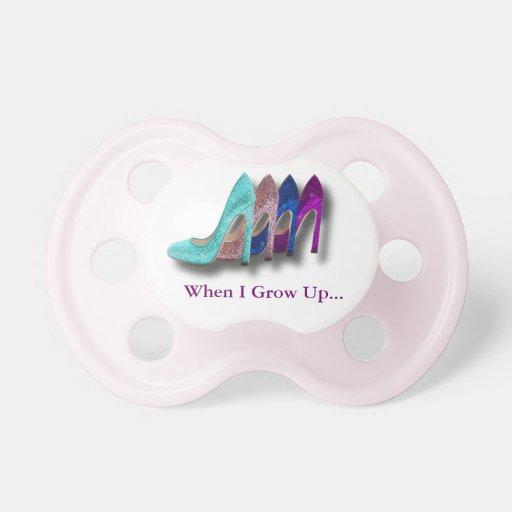 Pacificador de la niña de la moda de los zapatos d chupete