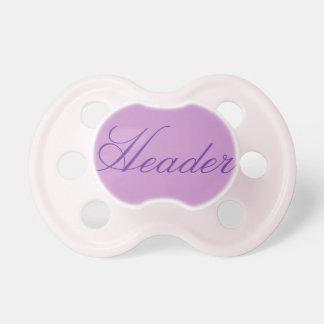 Pacificador de la niña: Lavanda púrpura Chupete