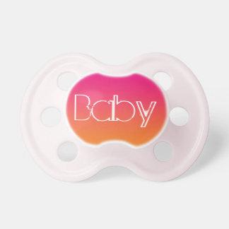 Pacificador de la niña: Ombre anaranjado rosado Chupete De Bebe
