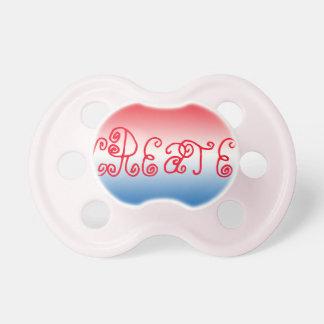 Pacificador de la niña: Ombre azul blanco rojo Chupetes Para Bebés