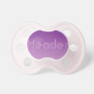 Pacificador de la niña: Ombre púrpura Chupetes Para Bebés