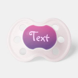 Pacificador de la niña: Ombre púrpura rosado Chupetes Para Bebés