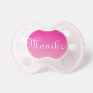 Pacificador de la niña: Ombre rosado Chupete De Bebe