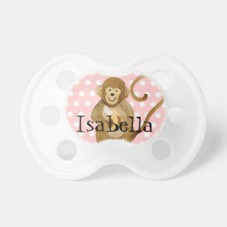 Pacificador de la niña - pequeño lunar del mono chupete de bebé