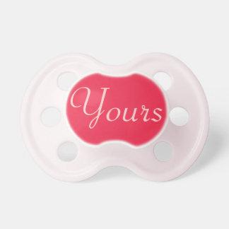 Pacificador de la niña: Rojo de rubíes Chupetes Para Bebes
