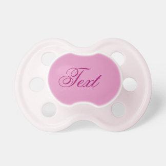 Pacificador de la niña: Rosa del bonito Chupete De Bebé