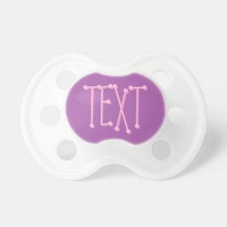 Pacificador de la niña: Suavemente púrpura Chupetes Para Bebés