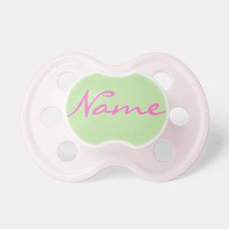 Pacificador de la niña: Verde claro Chupetes Para Bebés