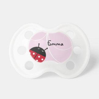 Pacificador de la señora rosada insecto chupetes de bebé