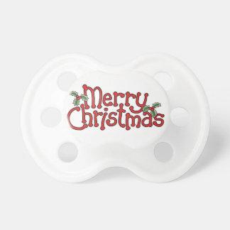 Pacificador de las Felices Navidad Chupetes De Bebe