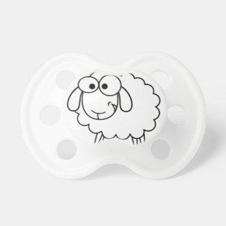 Pacificador de las ovejas chupetes de bebé