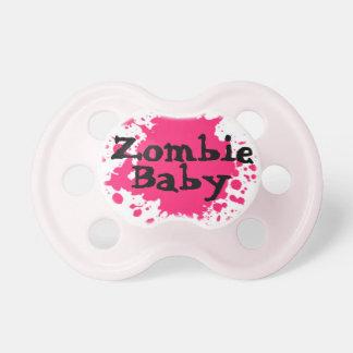 """""""Pacificador de los chicas del bebé del zombi"""" Chupete De Bebe"""