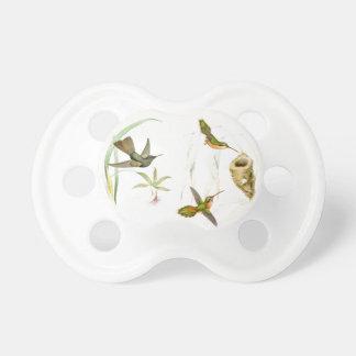 Pacificador de los colibríes y de las flores chupetes de bebé
