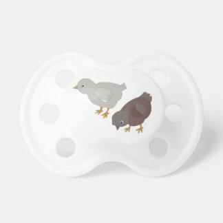 Pacificador de los pájaros de bebé chupete
