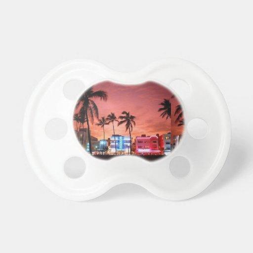 Pacificador de Miami Beach Chupetes Para Bebés