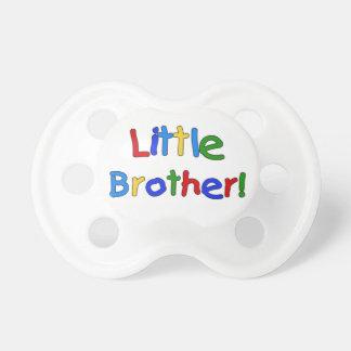 Pacificador de pequeño Brother del texto de los co Chupetes Para Bebés