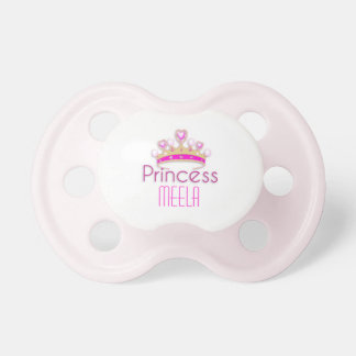 Pacificador de princesa Crown (personalizada) Boog Chupetes Para Bebés