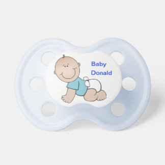 Pacificador del azul del bebé chupetes