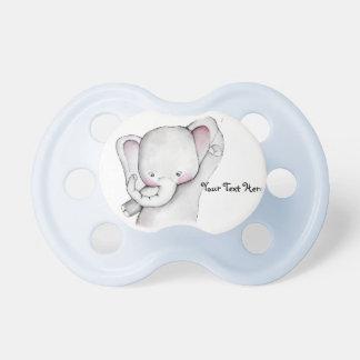 Pacificador del azul del elefante del bebé chupetes de bebe