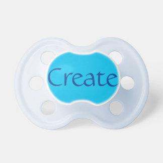 Pacificador del bebé: Azul de cielo Chupetes Para Bebés